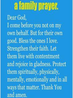 Prayer for family prayers. Prayer Scriptures, Bible Prayers, Faith Prayer, God Prayer, Catholic Prayers Daily, Money Prayer, Prayer List, Prayer Board, Quotes Arabic