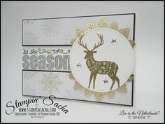 Stampin' Sacha | Stampin' Up! | Annual Catalogue 2017-2018 | Stitched Shapes Framelits | Autumn/Winter Catalogue 2017 | Merry Patterns | Year of Cheer DSP | Foil Snowflakes | Christmas Card