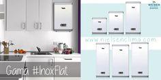 La gama Inox Flat está compuesta por termos blancos, extraplanos, únicos en acero inox, con doble potencia, y multiposición. #cocina #design #diseño #kitchen #ahorro #eficiencia #energía #agua #naturaleza #EficienciaEnergética #Energía #Ahorro #MedioAmbiente #Renovables #Ecología #EcoSistema #Electricidad #Naturaleza #Ciencia #InoxFlat #SilverFlat #Wesen #ConcienciaECO #Conciencia #futuro #reciclar #reciclaje #planeta #plantar #verde