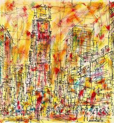 View Times Square NYC by Brian Keating. An original ink drawing of New York. Browse more art for sale at great prices. New art added daily. Buy original art direct from international artists. Shop now