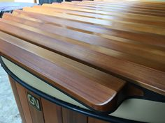 Western Red Cedar & Redwood Hot Tubs and Roll-Up Spa Covers Hot Pot, Hot Tub Cover, Western Red Cedar, Sauna, Wood Slats, Traditional, The Originals, Corner