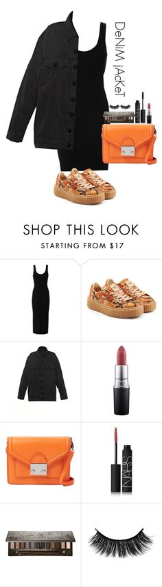 """DeNiM jAcKeT"" by whitecoconutgirl ❤ liked on Polyvore featuring Enza Costa, Puma, MAC Cosmetics, Loeffler Randall, NARS Cosmetics, Urban Decay, denimjackets and WardrobeStaples"