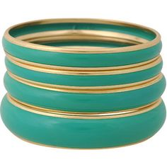 Green/gold bangles from Forever21 $7.80 great for spring