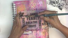 Stencil on Tissue Paper with StencilGirl® Stencils