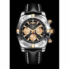 http://www.horloger-paris.com/fr/2771-breitling   Breitling Chronomat 44 Chronographe Bicolore Le garde-temps BreitlingChronomat 44 Chronographeest un très élégant modèle  avec complications chronographe, ...