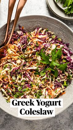 Coleslaw Recipe Yogurt, Healthy Coleslaw Recipes, Side Salad Recipes, Healthy Eating Recipes, Side Dish Recipes, Vegetarian Recipes, Cooking Recipes, Healthy Coleslaw Dressing, Waldorf Salat