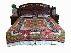 Indian Bedding Bedspread: Mogul Bed Cover Indian