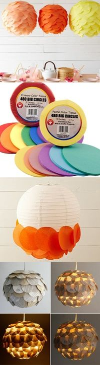 DIY Scalloped Lanterns Tutorial ~ Great way to fix my lantern with a hole in the side!