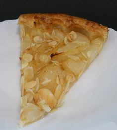 Tarte fine aux poires & crème d'amande