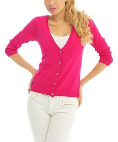 Look what I found on #zulily! Rose V-Neck Cardigan by Pink Ocean #zulilyfinds