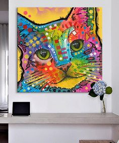 Another great find on #zulily! Tilt Cat Wrapped Canvas by Dean Russo #zulilyfinds