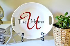 personalized ceramic platter {a tutorial}