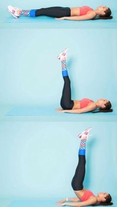 2 15 straightleg raises with a hips lift Lie on your back with your legs outstretched and feet together Bring your arms along your sides and press your palms into the flo. Straight Leg Raise, Hip Ups, Leg Raises, Your Back, Raising, Arms, Bring It On, Exercise, Exercises