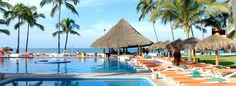 The gorgeous pool at Marival Resort & Suites Nuevo Vallarta in Mexico!