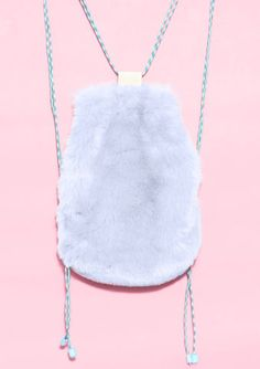 BLUE FUR BACKPACK / SOMEWHERE NOWHERE