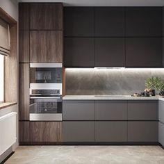 Black Kitchen Decor, Kitchen Room Design, Best Kitchen Designs, Kitchen Cabinet Design, Living Room Kitchen, Home Decor Kitchen, Kitchen Interior, Kitchen Cabinets Color Combination, Kitchen Modular