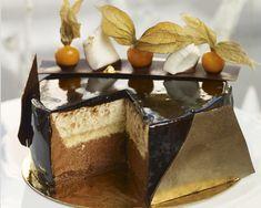 Tort z chrupką i musem cytrusowym Beautiful Cakes, Amazing Cakes, Calzone, Tiramisu, Cheesecake, Cooking Recipes, Pudding, Sweets, Chocolate