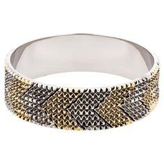Een echt opvallende armband in het zilver en goud van House of Harlow ♥