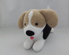 Beagle Puppy Plush Toy, Dog Stuffed Animal, Stuffed Doll, Stuffed Toy, Sock Monkey