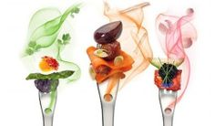 The AromaFork and the AromaSpoon, from molecular gastronomy suppliers Molecule R.