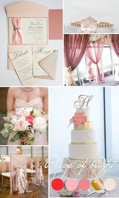 Couture Blush Wedding Invitation Pocketfold