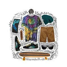 Agrega a tu outfit nuestras franelas teñidas 👕✌ Si la quieres personalizada para combinarla con tus acesesorios favoritos o vistete al freestyle 🌴🌊 domingo chill de salir como a patinar, post outift by @orilladesol #tiedye #dyestyle #outfit #enjoidye #tshirtdye #santacruz #lakai #altamont #baker #skate #skateboard #longboard