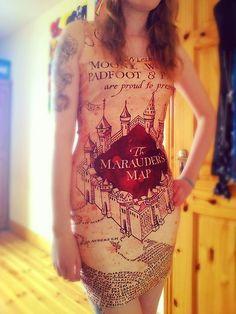 Dresslink Marauder's Map Dress Marauders Map, Dress Link, All Things, Harry Potter, T Shirts For Women, Blog, Tops, Dresses, Fashion