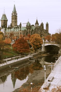 The Canadian Parliament in Autumn, Ottawa, Ontario. Thats the Rideau Canal in front, in the Winter it forms the longest skating rink in the word. You can skate 40 miles. Ottawa Canada, Canada Eh, Ottawa Ontario, Ottawa City, Montreal Canada, Westminster, Ottawa Parliament, Places To Travel, Places To See