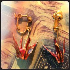 Spotted while shopping on Poshmark: Origami crane earrings! #poshmark #fashion #shopping #style #Jewelry