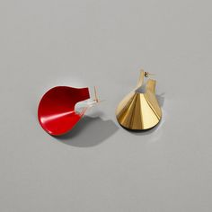 Image of Anish earrings in cherry red.