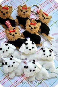 More inspiration for boss's felt dog ornament gift.