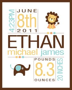 VERY FUNNY THAT THIS HAS ETHAN ON IT AND A BABY BORN IN JUNE... .LOOK ELAINE... PREDICTION???