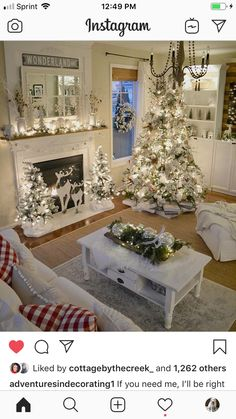 [New] The 10 All-Time Best Home Decor (Right Now) - Ideas by Kathern Rust - If you need me Ill be right here . all day . wrapping presents and watching every Hallmark Christmas movie I can before they end! Beautiful Christmas Decorations, Decoration Christmas, Farmhouse Christmas Decor, Country Christmas, Xmas Decorations, Christmas Fireplace Decorations, Holiday Decorating, Christmas Living Rooms, Christmas Room