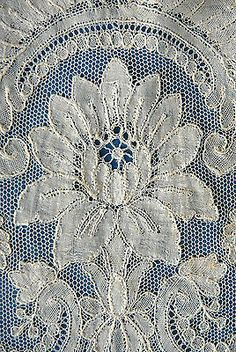 Point ground lace detail