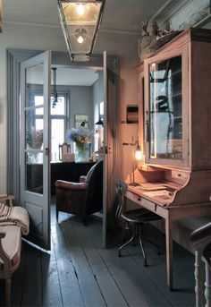 Grey painted floors - looks stunning & is practical for everyday use