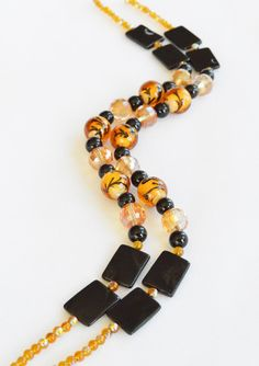 BEAD SALE! Orange & Black Bonsai Tree Bead Combination, Designer's Selection - Strung Beads - Bead Combo - Bead Mix by adrienneadelle, $11.99