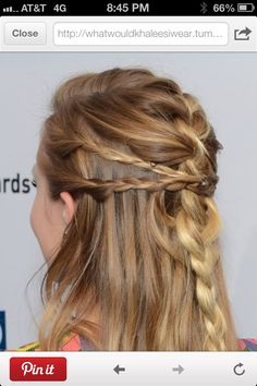 """Love all the braids working to a """"half up do"""""""