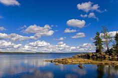 Stora Gla , sjö.