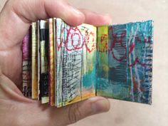 altered mini journal - by bun - artist: roxanne coble