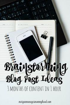 Brainstorming Blog Post Ideas - Morgan Manages Mommyhood
