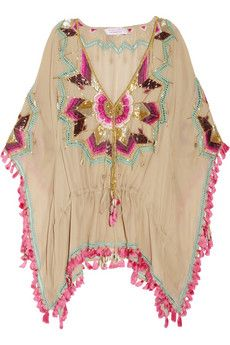 Trendy Beachwear for the Summer Matthew Williamson Embellished silk kaftan Bohemian Mode, Bohemian Style, Boho Chic, Gypsy Style, Hippie Style, My Style, Boho Outfits, Summer Outfits, Beach Outfits