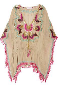 Matthew Williamson Embellished silk kaftan | THE OUTNET