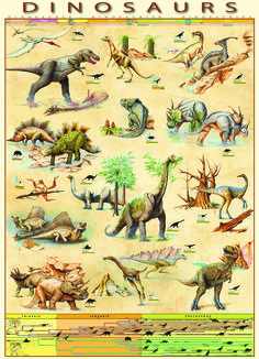 Weird Dinosaurs Educational Decorative Chart Poster 36 x 24 FREE SHIPPING