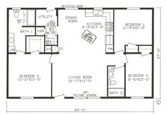 Ideal Guest bedroom remodel master bath,Master bedroom remodel plans and Bedroom remodel diy tutorials. Open Concept House Plans, Open Floor House Plans, Simple House Plans, Tiny House Plans, 3 Bedroom Floor Plan, House Plans 3 Bedroom, Rectangle House Plans, 1000 Sq Ft House, Ranch