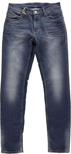 Schmal geschnittene Jeans mit hoher Leibhöhe und schmalem Beinverlauf, die Hose hat schöne, authentische Used-Effekte. Ideale Form für jede Altersgruppe. 83 % Baumwolle, 15 % Polyester, 2 % Elasthan....
