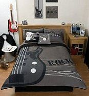 teen bed frams sets for boys black | music theme bedrooms - rock theme bedroom - kids bedroom music theme ...