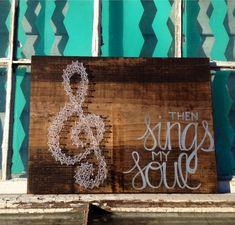 $26 Etsy String Art  String Art Treble Clef  Religious Wall Art Handmade by NailedItDesign.etsy.com