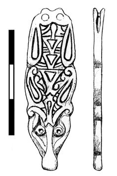 FAKL-8B6E69: Early Medieval strap end