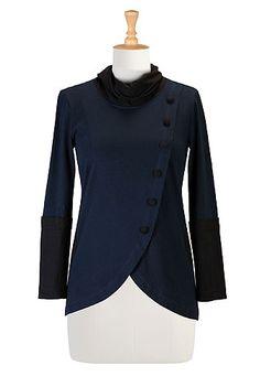 Inspector Javert   eShakti Colorblock collar knit top