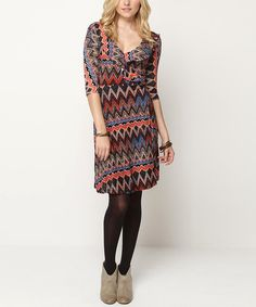 Take+a+look+at+the+Jantie+Red+&+Blue+Rachel+Ruffle+Wrap+Dress+on+#zulily+today!